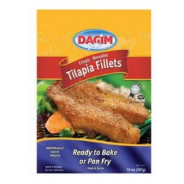 Dagim Tilapia Fillet Crispy Breaded Ready to Bake or Pan Fry 392g