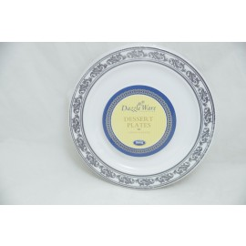 "Dazzleware Collection Dessert Plates 6""10cts in Silver"