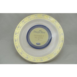 "Dazzleware Collection Dessert Plates 6"" 10cts in Gold"
