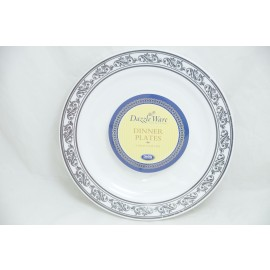 "Dazzleware Collection Dinner Plates 9""10cts in Silver"