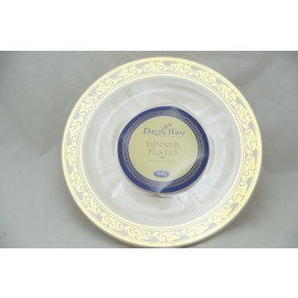 "Dazzleware Collection Dinner Plates 9"" 10cts in Gold"