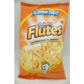 Golden Fluff Potato Flutes Barbeque Flavor  4oz