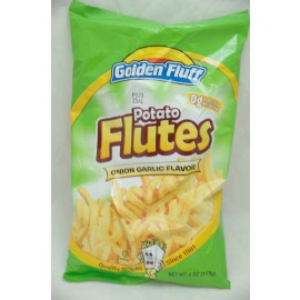 Golden Fluff Potato Flutes Onion Garlic Flavor  4oz