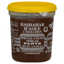 Hashahar H'Aole L' Mehadrin Special Cocoa Spread Parve net Wt 1Lb ( 454gr)