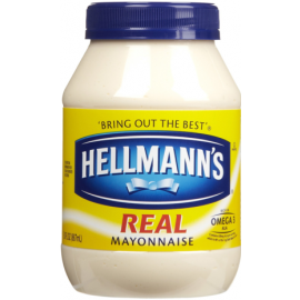 Hellman's Mayonaise Real Mayo 890ml