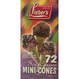 Lieber's Ice Cream Cones Mini 72 (85g)