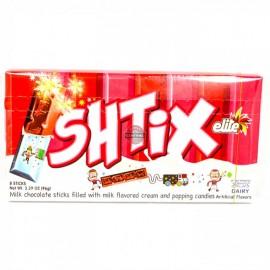 Elite Shtix Chocolate Milk 8 Sticks Filled with Milk  flavored cream and popping candiesNet Wt. 3.39oz (96g)