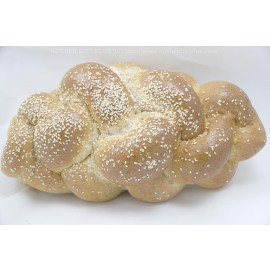 Small Whole Wheat Challah with Sesame Yashan Pas Yisroel Kosher City Plus Bakery