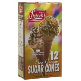 Lieber's Ice Cream Cone Sugar 12 170g