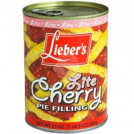Lieber's Lite Cherry Pie Filling 21oz (1lb) 595g