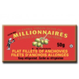 Millionaires Flat Fillet of Anchovies in extra Virgin olive Oil 50g