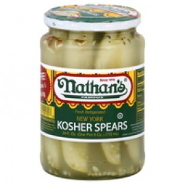 Nathan New York Style Kosher Dill Pickle Spears 750ml