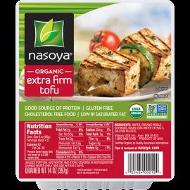 Nasoya Organic Extra Firm Tofu Drained Wt. 14 oz 397 g