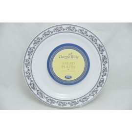 """Dazzleware Collection Salad Plates 7.5""""10cts in Silver"""