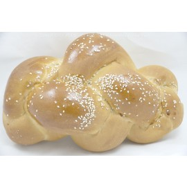 Large Challah with Sesame Seeds Yashan Pas Yisroel Kosher City Plus Bakery