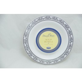 Dazzleware Collection Soup Bowl 12oz 10cts in Silver
