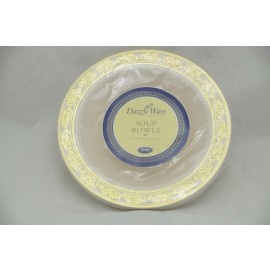 Dazzleware Collection Soup Bowl 12oz 10cts in Gold
