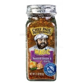 CHEF PAUL PRUDHOMME MAGIC SEASONING BLENDS TOASTED ONION GARLIC NET WT. 2.1OZ (59.5G)